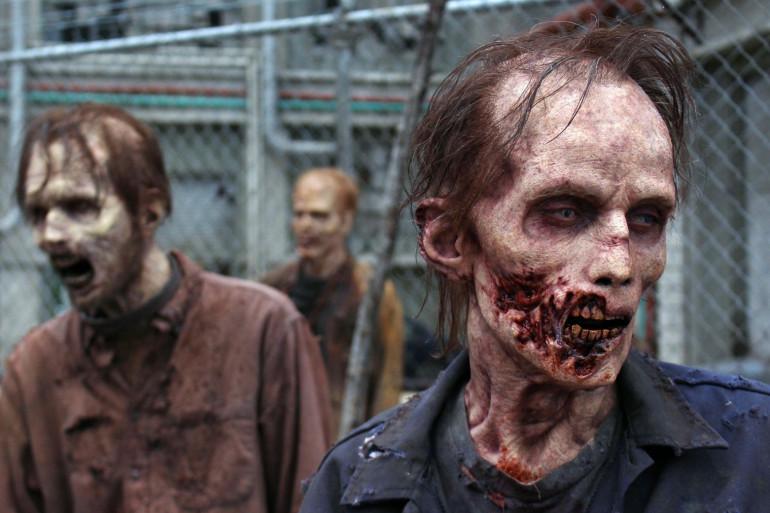 """Les zombies de la série """"The Walking Dead"""""""