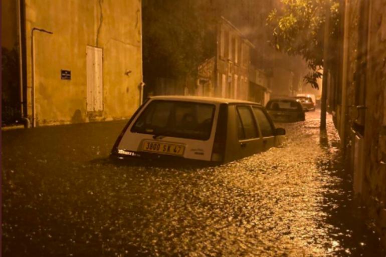 Il est tombé l'équivalent de deux mois de pluie en trois heures à Agen.