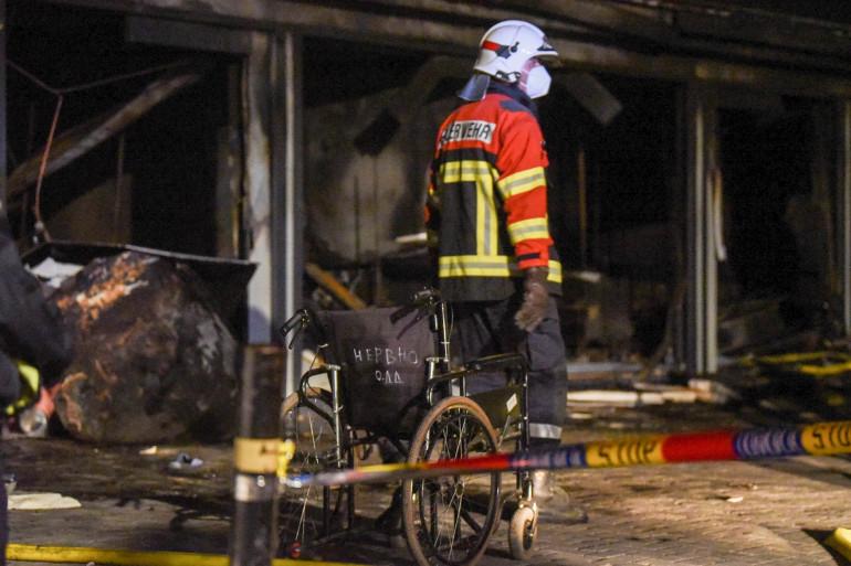 Un violent incendie a emporté 10 personnes dans un hôpital covid en Macédoine du Nord
