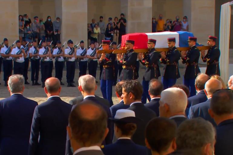 Le cercueil de Jean-Paul Belmondo
