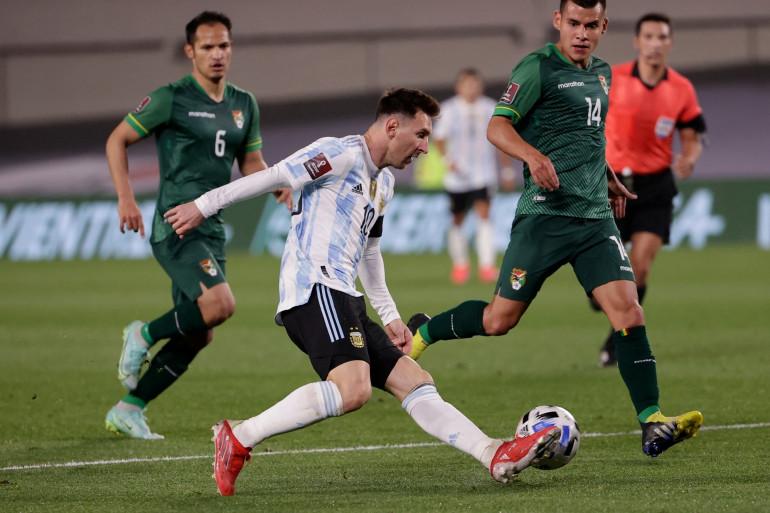 Lionel Messi avec l'Argentine face à la Bolivie le 9 septembre 2021 à Buenos Aires