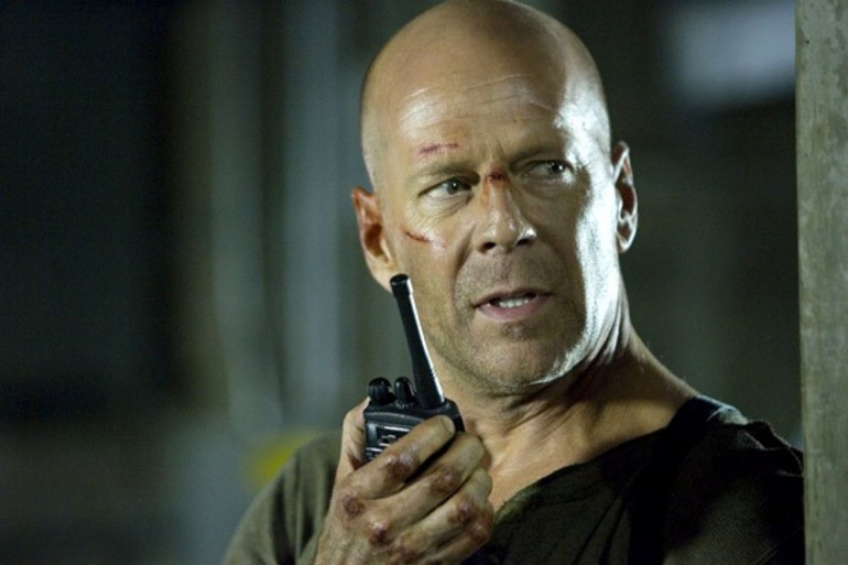 """Bruce Willis dans """"Die Hard 4"""""""