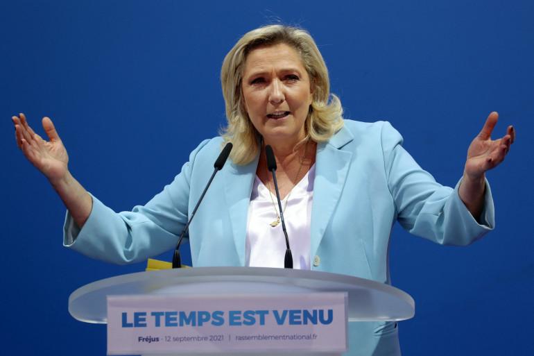 Marine Le Pen, à Fréjus le 12 septembre 2021