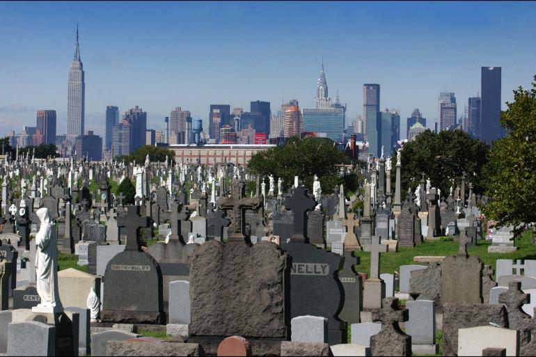 Le cimetière du Queens, le 26 septembre 2001