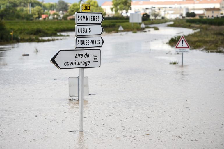 De violents orages et des pluies record se sont abattus sur le Gard