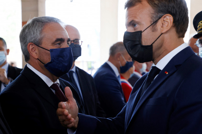 Xavier Bertrand et Emmanuel Macron, le 14 septembre 2021
