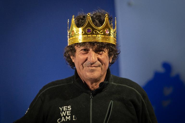 """Jean Le Cam, alias """"le Roi Jean"""", aux Sables-d'Olonne le 29 janvier 2021"""