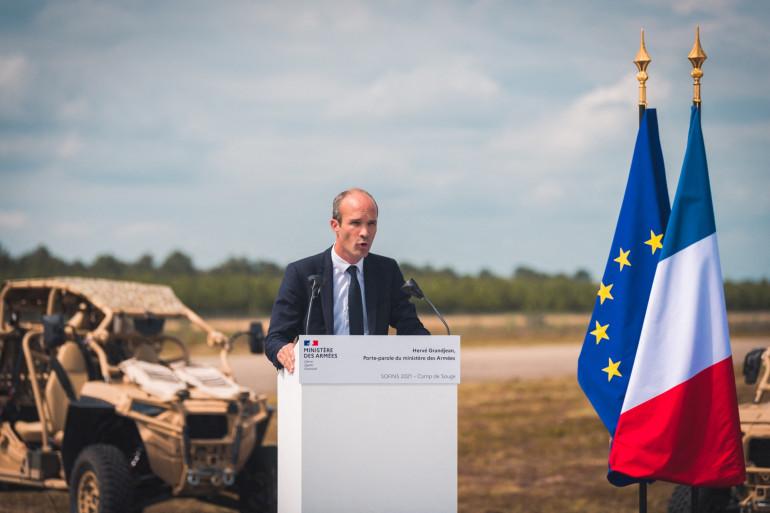 Hervé Grandjean, le Porte-Parole du ministère des armées