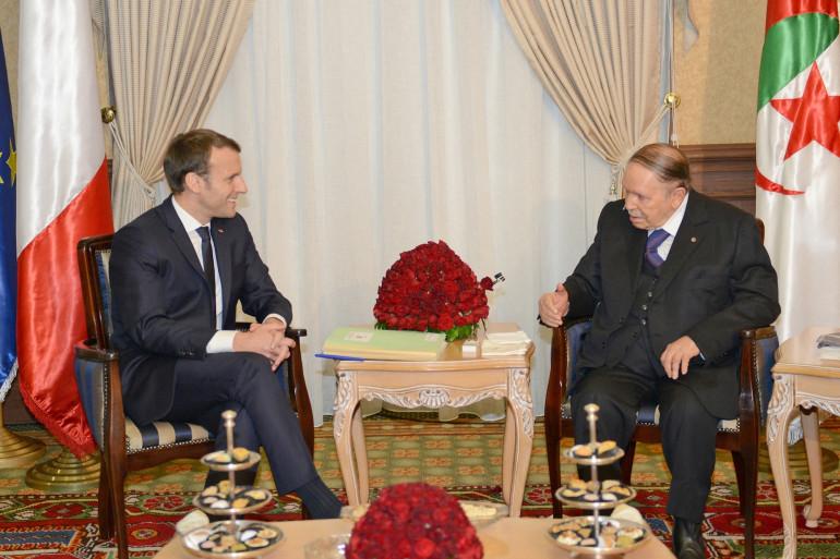 Emmanuel Macron et Abdelaziz Bouteflika à Alger en décembre 2017