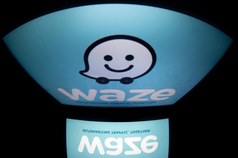 Le logo de l'application GPS Waze