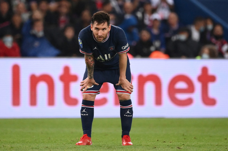 Lionel Messi avec le PSG au Parc des Princes le 19 septembre 2021