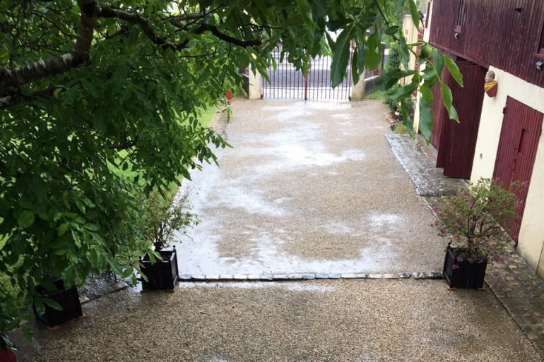 Le jardin de Jean-Pierre est inondé depuis les travaux