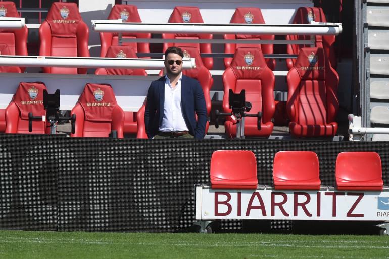 Le président du Biarritz Olympique Jean-Baptiste Aldigé au stade Aguilera le 4 septembre 2021