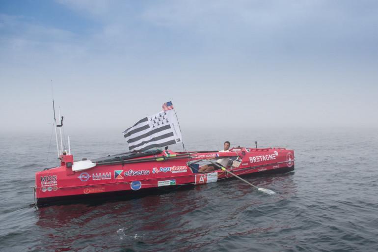 Guirec Soudée dans son embarcation (image d'archive)