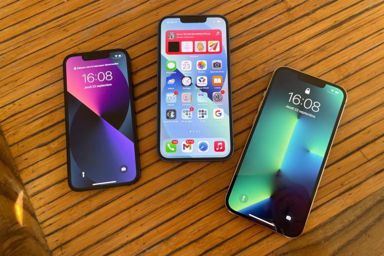 L'iPhone 13 Mini, l'iPhone 13 et l'iPhone 13 Pro