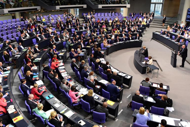 Le Bundestag, la chambre basse du parlement allemand
