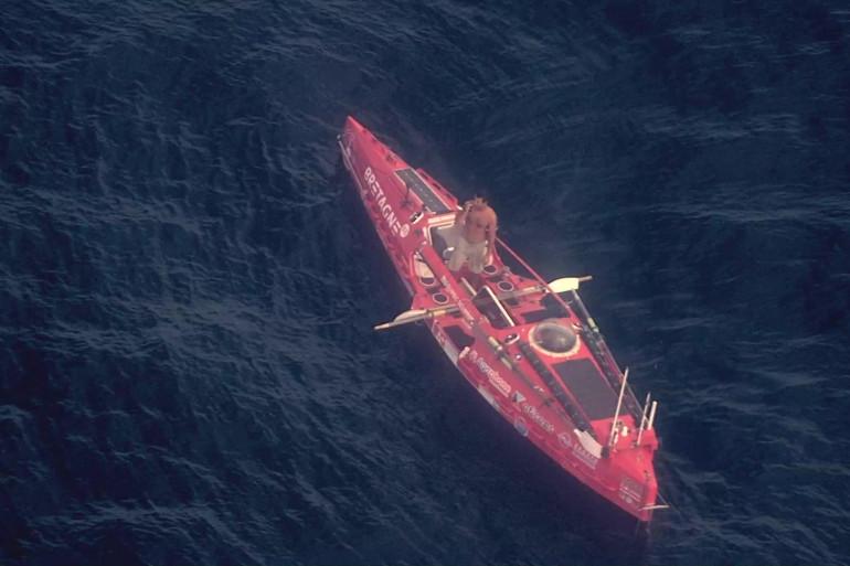 Guirec Soudée à bord de son bateau le 25 septembre 2021