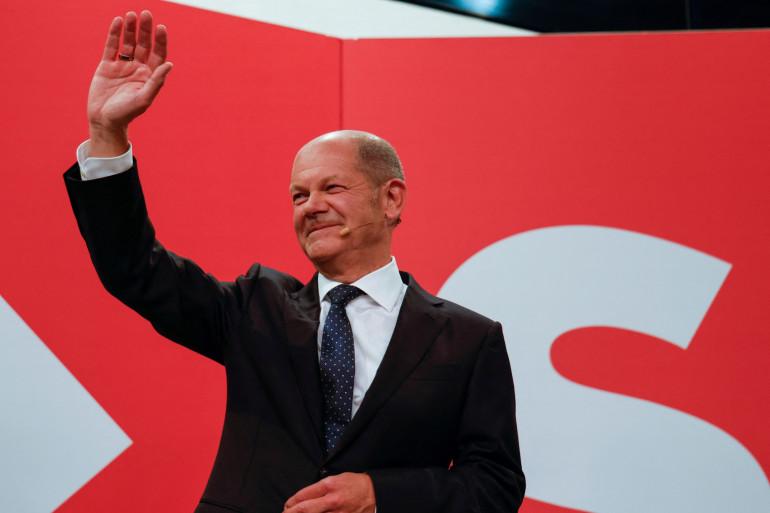 Olaf Scholz, candidat du SPD aux législatives allemandes