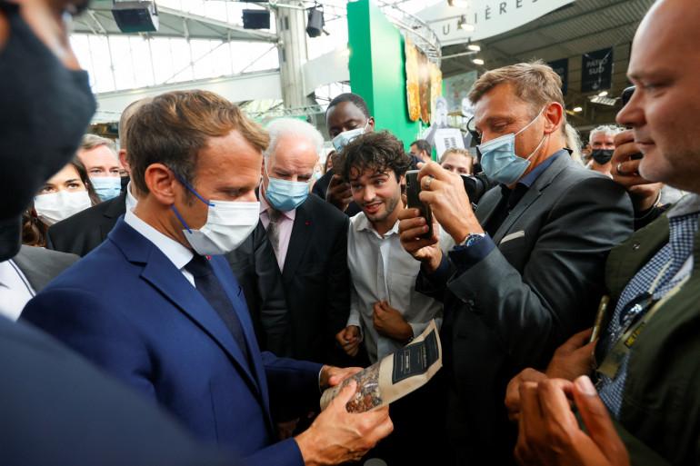 Emmanuel Macron en déplacement à Lyon le 27 septembre 2021