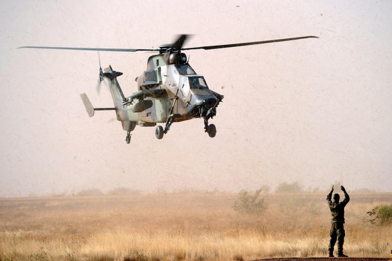 Un hélicoptère Tigre en opération au Mali, ici le 2 février 2013