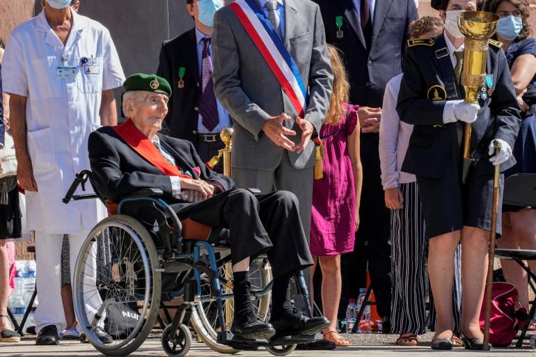 Hubert Germain, un résistant de la Seconde Guerre mondiale en juin 2021