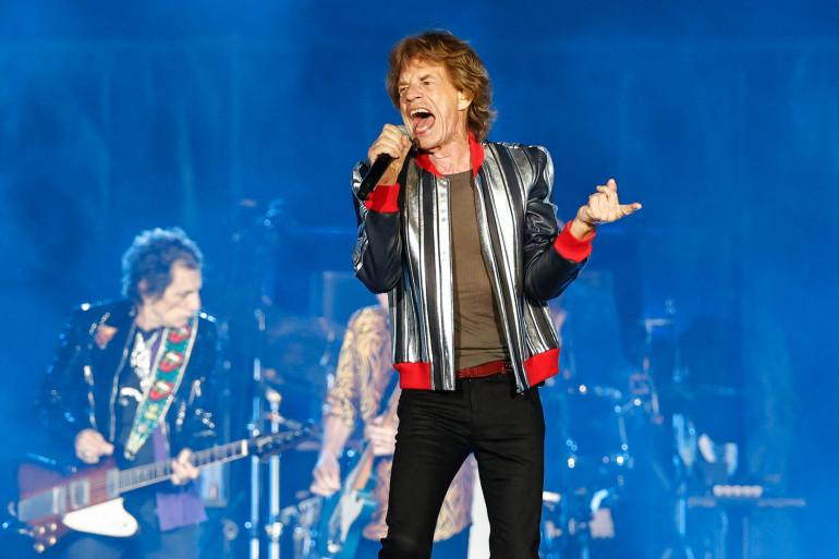 """Le chanteur britannique Mick Jagger lors de la tournée nord-américaine des Rolling Stones """"No Filter"""" 2021 au Dome du stade America's Center, le 26 septembre 2021 à St. Louis, Missouri."""