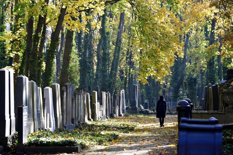 Illustration d'un cimetière juif près de Berlin