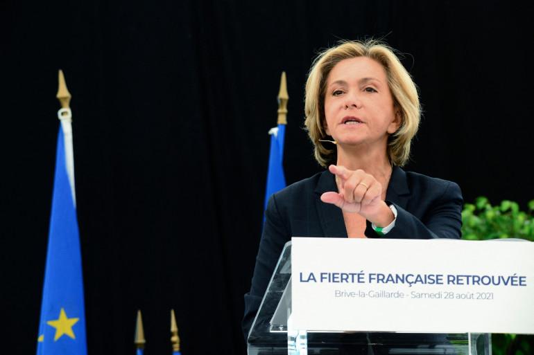 Valérie Pécresse à Brive-la-Gaillarde (Corrèze) lors de la rentrée de son mouvement Libres!, le 28 août 2021.