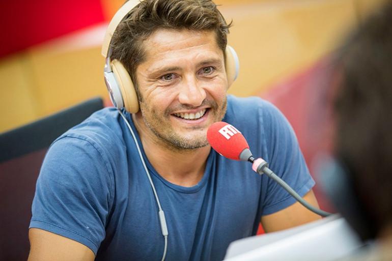 Bixente Lizarazu dans les studios de RTL