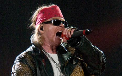 Axl Rose, le chanteur du célèbre groupe de rock américain Guns N'Roses