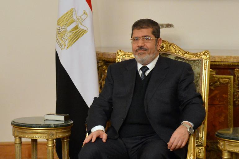 Le président égyptien destitué Mohamed Morsi au Caire le 8 janvier 2013.