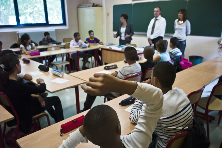 Un classe de 5e au collège Jean de Verrazan de Lyon (photo d'illustration).