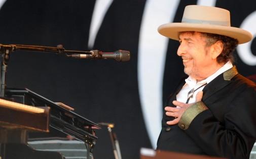 Bob Dylan aux Vieilles Charrues le 22 juillet 2012.