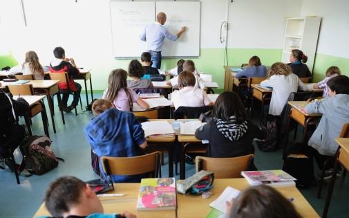 Une classe du collège de Tinténiac, près de Rennes, le 23 septembre 2011