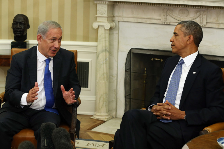 Le Premier ministre israélien Benjamin Netanyahu avec Barack Obama à la Maison Blanche le 30 septembre 2013