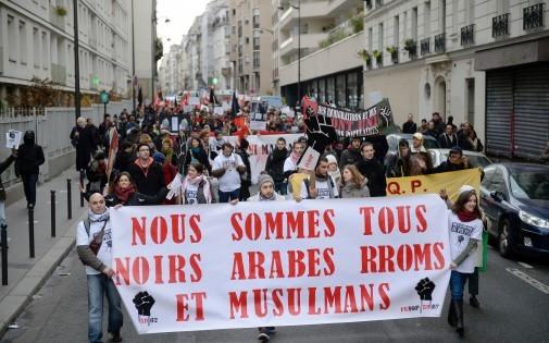 Manifestation anti-racisme, le 7 décembre à Paris.