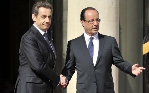 Nicolas Sarkozy et François Hollande, le 15 mai 2012.