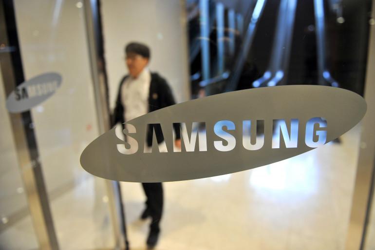 Le logo de Samsung au QG de la marque sud-coréenne à Séoul, le 22 novembre 2013. (archives)