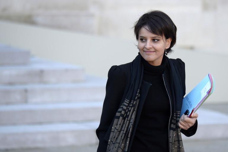 Najat Vallaud-Belkacem à la sortie de l'Elysée, le 11 décembre. (archives)