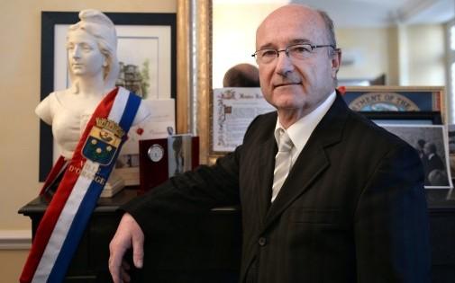 Jacques Bompard (Ligue du Sud), à la mairie d'Orange, le 6 décembre 2013. (archives)