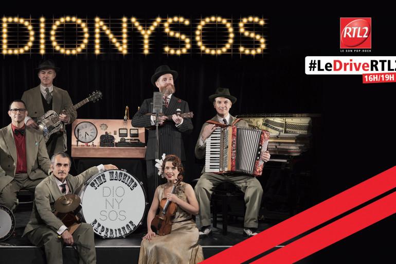 Dionysos dans #LeDriveRTL2