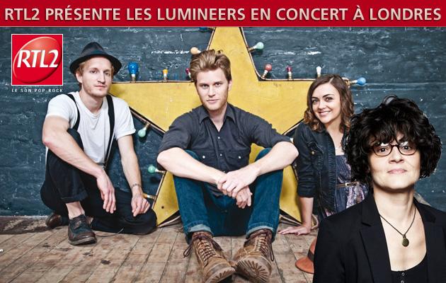 RTL2 présente les Lumineers en concert à Londres!