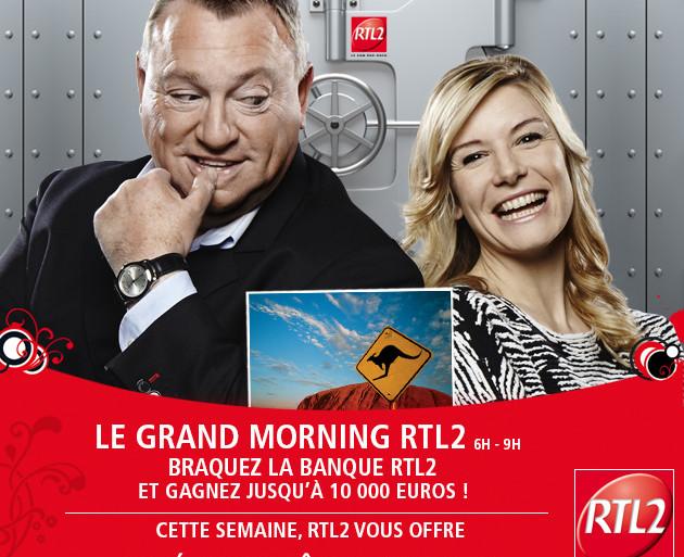 Le Grand Morning RTL2 - Braquez la banque - séjour en Australie