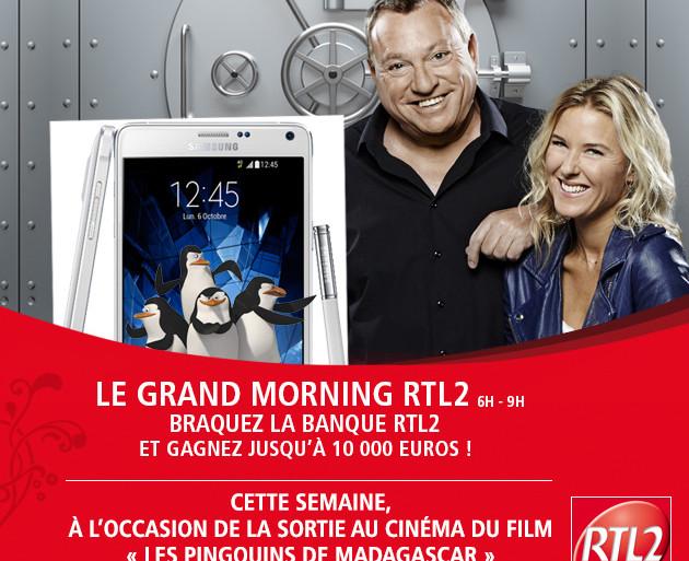 Le Grand Morning RTL2 - Braquez la banque - Les Pingouins de Madagascar