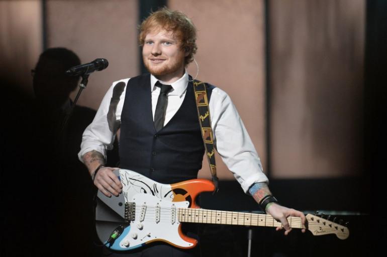 Ed Sheeran aux Grammy Awards, le 8 février 2015