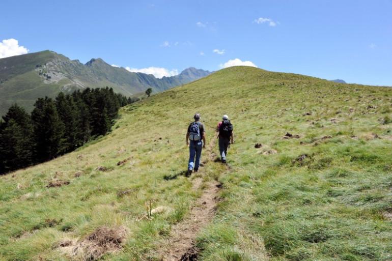 Des randonneurs dans les Pyrénées (illustration)
