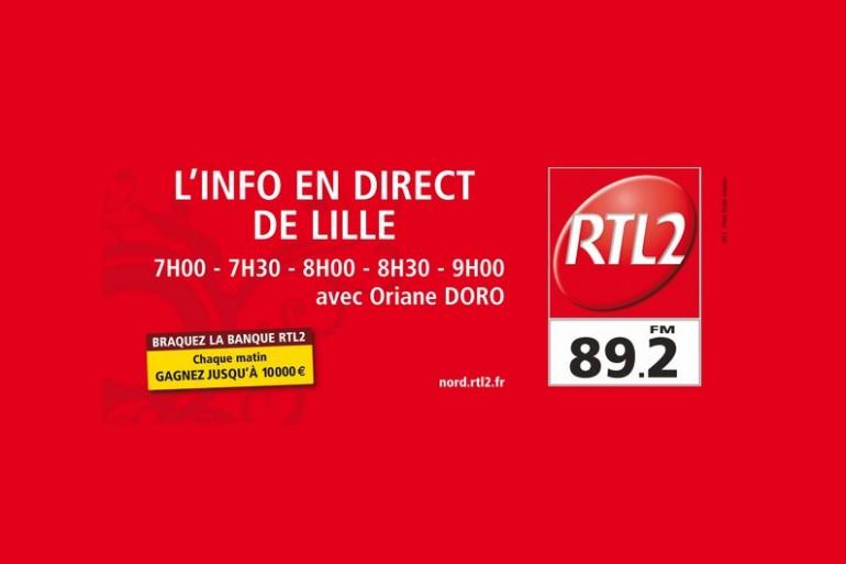 Ecoutez les infos du Nord-Pas-de-Calais sur RTL2 Nord