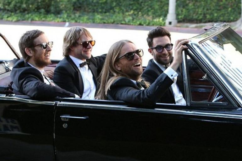 """Maroon 5 sur le tournage du clip de """"Sugar"""""""