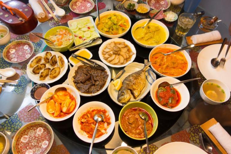 dîner à l'étranger