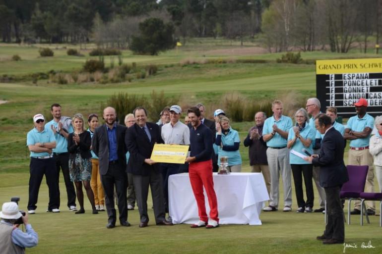 Edouard Espana remporte cette 79ème édition (photo source Twitter Golf du Medoc)